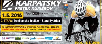 Karpatské preteky kuriérov U23, 29.4. - 3.5.2016