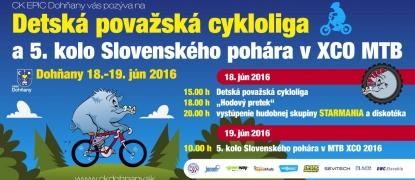 Detská považská cykloliga 18.6.2016 a Slovenský pohár v MTB XCO 19.6.2016